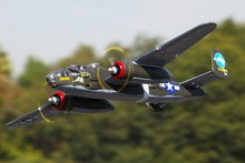 FMS RC Airplane 1400MM / 1.4M B-25 / B25 Mitchell Green Newest Version PNP Big Scale Gaint Warbird Model Plane Aircraft