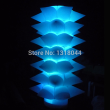 Promotion 8ft lighted outdoor inflatable led pillar for valentine's day