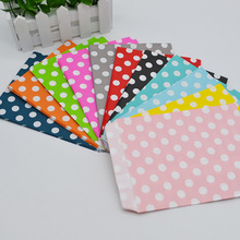 25pcs/lot 13*18cm Polka Dot Paper Bag Lolly Buffet Crafts Favor Bags Wedding Events Birthday Party Food Packaging Supplies