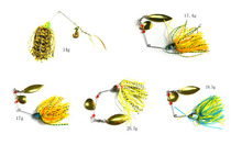 Hot 2016 Spinnerbait Mixed Weight 5 Colors Metal Fishing Spoon Jigs Skirt Silicone Fishing Lures Spinner Baits(China)