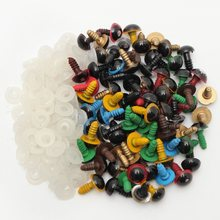 New 80Pcs/40Pairs 10mm Mix Color Plastic Safety Eyes DIY For Teddy Bear Stuffed Toy Snap Animal Puppet Doll Craft Toy Part