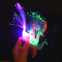 50pcs/lot led peacock finger light ring lamps for wedding party decorations as guest Kid 's birthday toys gifts