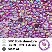 DMC Hotfix Crystals Rhinestone  SS20 siam AB 10 Gross/bag CPAM Free Brides Stones Garment Accessories,Wholesale