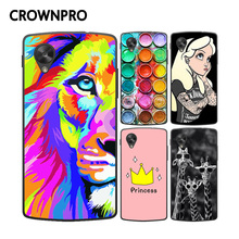CROWNPRO Nexus 5 Case Cover FOR LG Google D820 D821 E980 Nexus 5 Colorful Painting Phone Back Protector Case FOR Nexus 5(China)