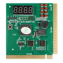 2pcs PCI & ISA Motherboard Tester Diagnostics Display 4-Digit PC Computer Mother Board Debug Post Card Analyzer(China)
