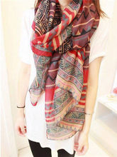 1Pc Fashion New Lady Vintage Women Long Soft  Voile Print Scarves Shawl Scarf