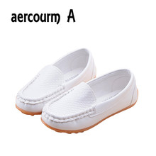 Aercourm A 2017 NEW Children Shoes boys Kids PU Leather Sneakers Boys Girls Boat Shoes Slip On Soft Casual Flats shoes sandals