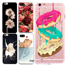 Fashion Soft Capa Funda For iphone 5 5s 5se 6 6s 4.7'' 7 Cover Case Silicone TPU Design Milk Flower Floral Print Bags Shell s
