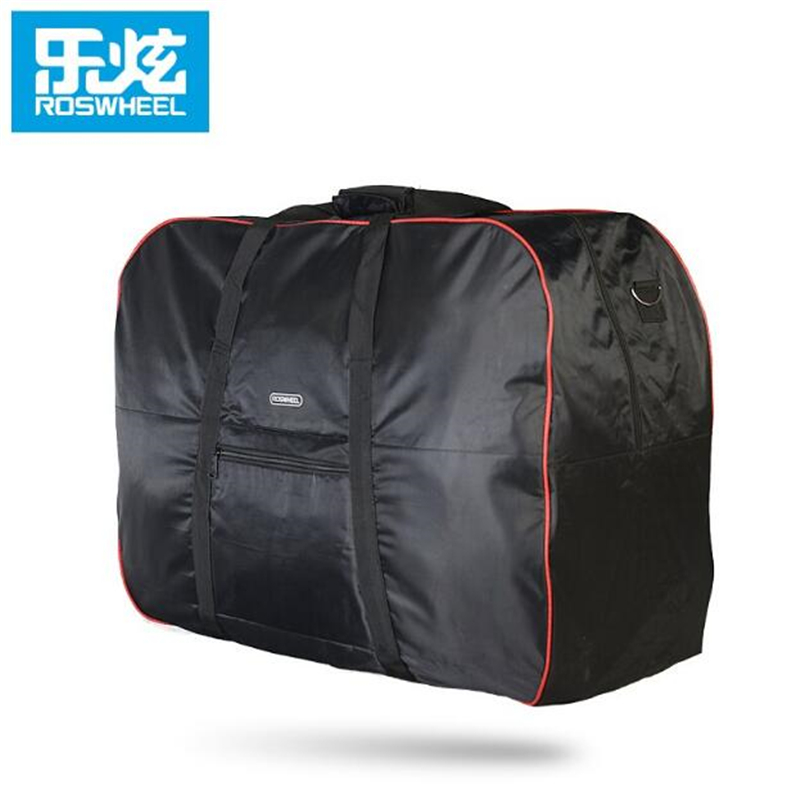 ROSWHEEL Bicycle Storage Bag 14-20 Inch Folding Bike Loading 420D Pannier Shoulder Hand Carry Luggage Handlebar Seatpost Mount