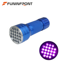 3 x AAA Powered Mini 21 Lamps Portable UV Flashlight 395NM Violet Light LED UV Torch Light Detector for Currency Pet Urine Amber