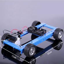 DIY Two-wheel Drive Ordinary Car Assembled Toy Vehicles Educational Assembly Classic Model Car Toy Great Gift for Kids(China)