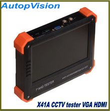 "7"" AHD camera tester CCTV tester monitor HD 1080P AHD analog camera testing VGA HDMI input 12V2A output(China)"