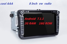 RNS510 2 din vw navi Android 7.1.1 2G RAM 16G ROM Golf 5 6 Jetta Mk5 Mk6 Passat CC Tiguan polo Eos sharan 4G wifi bluttooth(China)