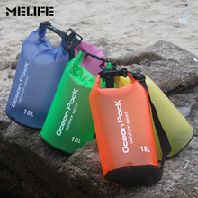MELIFE Swimming Ocean Pack Waterproof bag Outdoor Durable Lightweight Diving floating 2 5 10 15L Storage PVC Dry Bag For Travel(China)