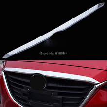 ACCESSORIES FIT FOR 2014 2015 2016 MAZDA 3 CHROME FRONT HOOD COVER TRIM MOLDING GRILLE BONNET GARNISH GRILL STRIP BAR