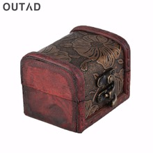 OUTAD Wooden Watch Display Box Jewelry Necklace Rings Storage Organizer Random Pattern Delivered cajas para relojes Winder(China)