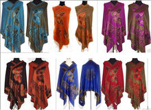 Free shipping 2015 HOT Sale Chinese Lady Double-Side Butterfly Pashmina Scarf Wrap Shawl Cape Red/Black/Purple/Blue