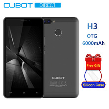 Cubot H3 6000mAh Big Battery OTG 5.0 Inch HD Android 7.0 MT6737 Quad Core 3GB+32GB Smartphone Rear Dual Camera 4G LTE Finger ID(China)