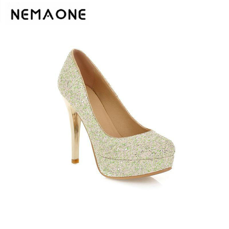 New women shoes high heel shoes fashion bride wedding shoes 11cm high heels crystal diamond pointed shoes woman pumps<br>