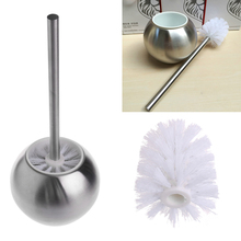 High Quality New Stainless Steel Toilet Bowl Brush Bathroom Cleaning Tool Holder With Base MAY8