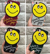 For Iphone X 8 I8 7 PLUS I7 7plus 6 6S IphoneX 3D Cartoon Smile Soft Silicone GEL Case Cute Cell Phone Skin Cover Fashion 50pcs(China)