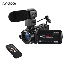 Andoer HDV-Z20 1080P Full HD WiFi Digital Video Camera with External Microphone Rotatable LCD Touchscreen 24 MP 16x Digital Zoom(China)