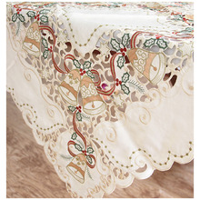 Machine Embroidery Table Cloth Woven Christmas Day Polyester Home/Outdoor/Party Size:85*85cm Toalha De Manteles Para Mesa