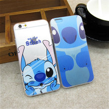 Hot Sale Cute Cartoon Stitch Soft TPU Back Covers for Apple IPhone 6 6s Funny Ultra Thin Silicone Phone Case Shell Skin Coque(China)