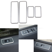 Car window glasses lifter button decoration Frame stickers For 2015 2016 Land Rover Discovery Freelander(China)