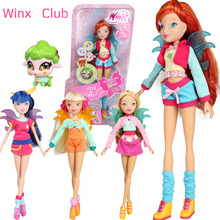 Love Pet &City Girl Winx Club Doll rainbow colorful girl Action Figures Fairy Bloom Dolls with Classic Toys For Girls Gift(China)