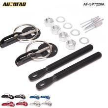AUTOFAB - Racing Black Hood Bonnet Pin Kit Aluminium For All Cars Lock Locking Sport New For Honda 08-12 Accord 2Dr AF-SP7220A(China)