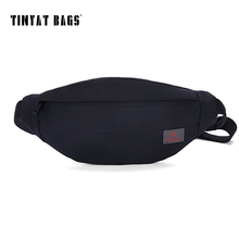 TINYAT New Men Casual Waist Pack Bag Belt Bag Adjustment To Shoulder Fanny Pack Coin Phone Bag Black T201 Update