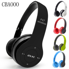 CBAOOO Wireless Bluetooth Headphone Stereo Headset Foldable Earphones Headband Handsfree Headphones With Mic TF Card FM Radio