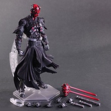 26cm Star Wars Darth Maul Play Arts Kai PVC Action Figure Toys Collectors Model Doll With Box