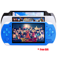X6 8GB 4.3'' 32Bit 1000 Childhood Classic Games Built-In Portable Handheld Video Game Console Player de jeux
