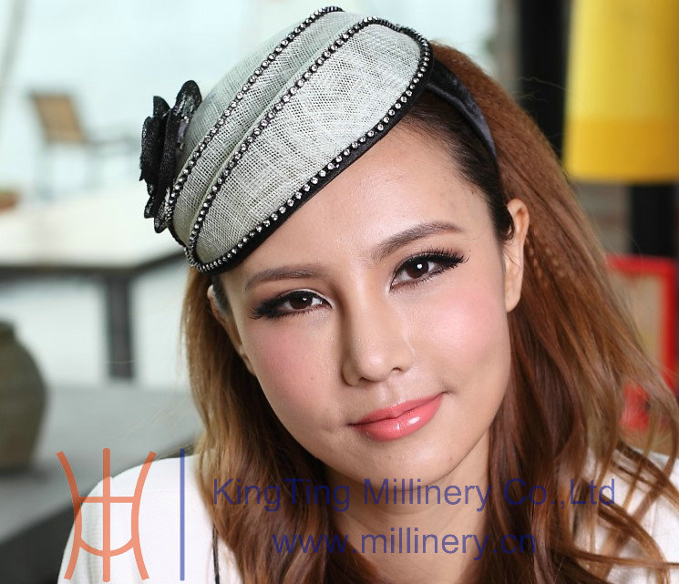 Free Shipping Fashion Girl Hairwear Fascinator Hat Elegant Sinamay Hairband Ladies Hair Hairband Flower Girl Hair Accessories<br><br>Aliexpress