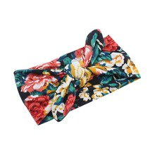 Newborn Infants Girls Hair Accessories Headband Head Wraps Floral Printing Headband Turban Headband FR45(China)