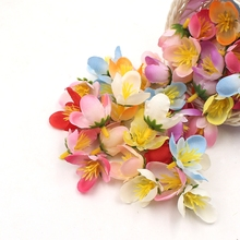 10pcs 2cm mini silk small tea bud artificial small lotus wedding dress DIY wreath accessories cut and paste craft flower head(China)
