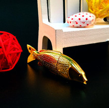 Hot Sale Gold Fish Shape Metal usb 2.0 Memory Flash Stick Pen Drive(key ring pendant)(China)