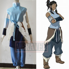 Avatar The Legend of Korra The Heroine Korra Anime Custom Made Uniform Cosplay Costume