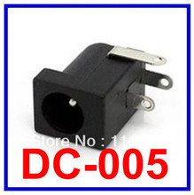 10PCS/LOT Free ship DC power a 5.5 mm in diameter needle 2.1 mm DC-005 power socket DC Power supply Jack socket 5.5 X 2.1 mm