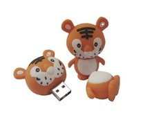 wholesale price Cartoon tiger Usb Flash Drive 1gb 2gb 4gb 8gb 16gb 32gb pen drives gift memory disk Pendrive(China)