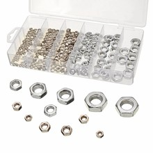 300pcs/lot Stainless Steel Hex Nuts Assortment Metric Nut Kit with Box M3 M4 M5 M6 M8 M10 For Hardware Accessories(China)