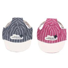 Stripe Baseball Dog Caps Breathable Pet Dog Hats With Ear Holes Large Dogs Sports Sun Hats S M L Outdoor Pet Supplies