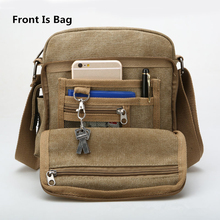 Back And Front Side Pockets Men Messenger Bags Canvas Vintage Bag Men Shoulder Crossbody Bags Small Bag Designer Handbags Bolso