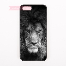 black and white lion face art for SONY Xperia C3 M2 M5 T2 Ultra T3 X XA Z2 Z3 Z4 Z5 Compact Premium cover cases cool for men boy(China)