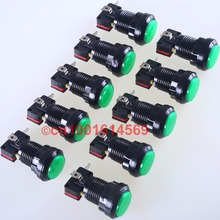 Green Reyann 10pcs/lot 30mm LED illuminate Round Arcade LED Push Button For PC Game Controller & Arcade Sticks USB Connector