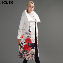 JOJX Flower Print thick Parkas women winter jacket 2017 Long Brand women coat winter Down Jacket Fashion Warm Female coats(China)