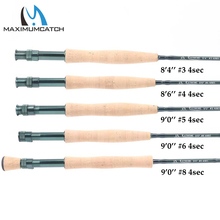 Maximumcatch 3/4/5/6/7/8/10WT Fly Rod 9FT 4Pieces Medium-fast Graphite IM8 Fly Fishing Rod(China)
