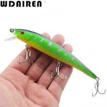 1Pcs 13cm 19.5g Minnow Fishing Lure Fish Wobbler Tackle Crankbait Artificial Japan Hard Bait Swim baits 4# Hooks WD-203(China)